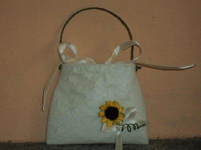 """sacchetti per confetti confettata artigianali , segnaposto fai da te """"borsetta panna"""""""
