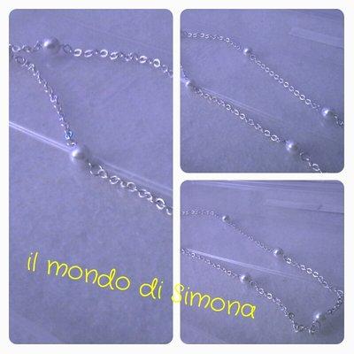 collana catenella e perle