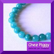 4 x perle in pietra colorata - TURCHESE