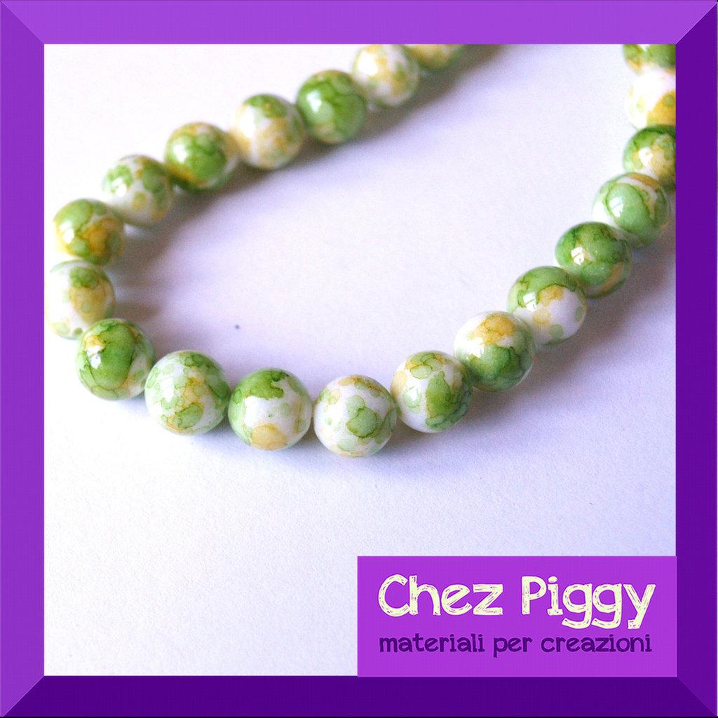 4 x perle in turchese sintetico - VERDE