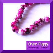 4 x perle in turchese sintetico - PINK e marrone