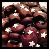 cioondolo in fimo moncake per collane anelli orecchini