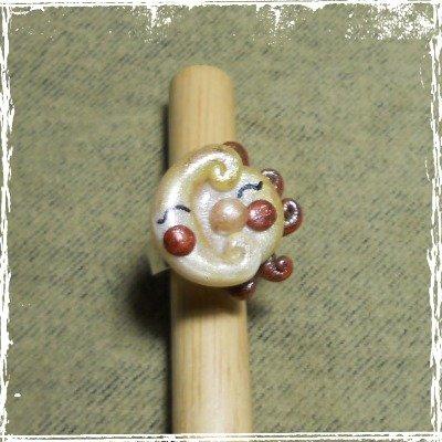 Anello regolabile Sole e Luna in fimo, handmade.