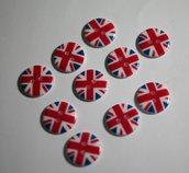 Bottoni bandiera inglese 18mm. Buttons english flag 18mm.