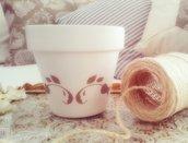 Vaso in ceramica shabby