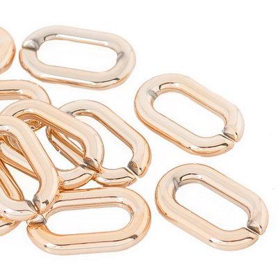 Connettori Apribili  anelli x creare  Collana dorato 27mmx12mm