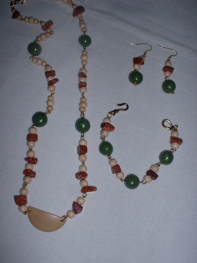 parure legno/verde