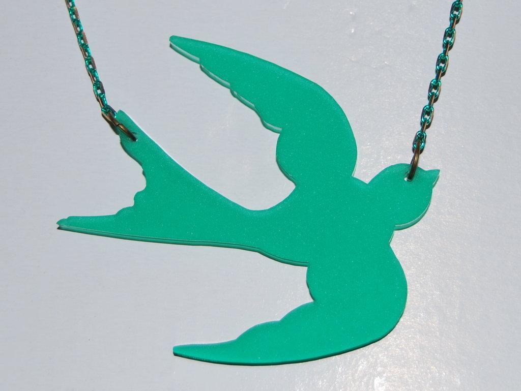 Collana rondine Sofiaretrobazar Swallow Pendant