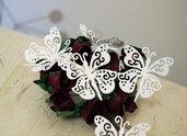 Farfalle di Carta, Ritagli per Scrapbook e Biglietti, Decorazioni Matrimonio 10pezzi