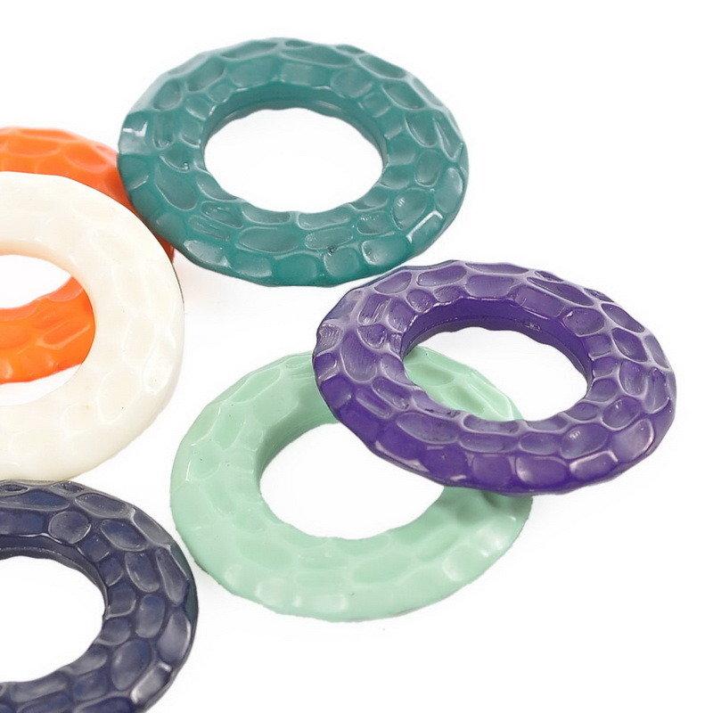 4 anelli chiusi Connettori per Bigiotteria  21mmx21mm