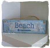 Cartello in legno BEACH
