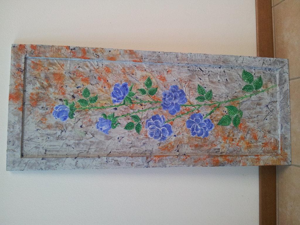 quadro rose azzurre