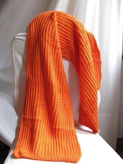 sciarpa arancione....viva i colori!!!