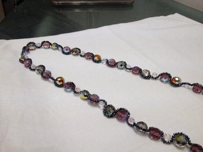 Collana in cristalli sfacettata, originale e introvabile