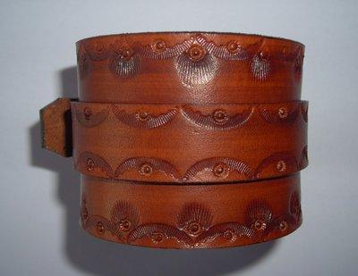 bracciale in pelle cuoio modello a 1 striscia decorato leather cuff wristband