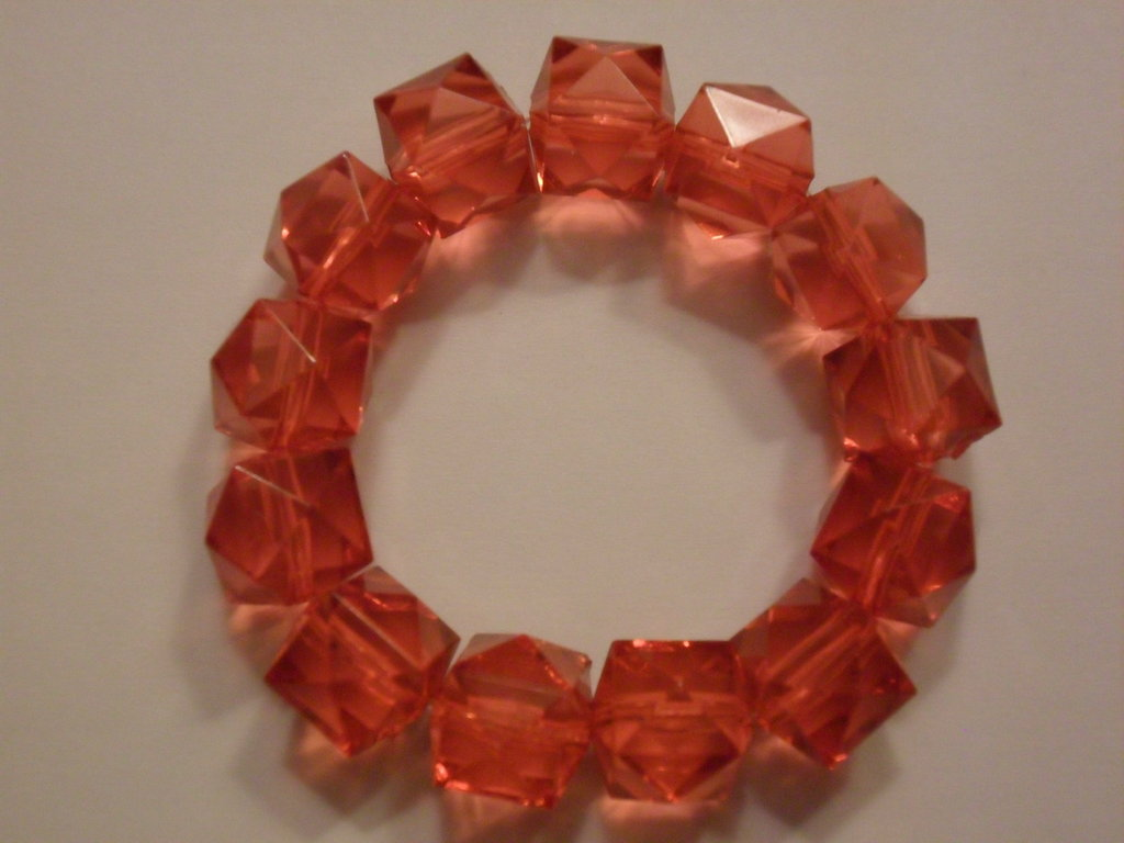 Bracciale arancione con cubi