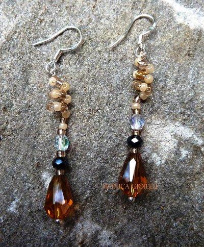"""Orecchini con perle e perline fatti a mano """"Lady marmalade"""""""
