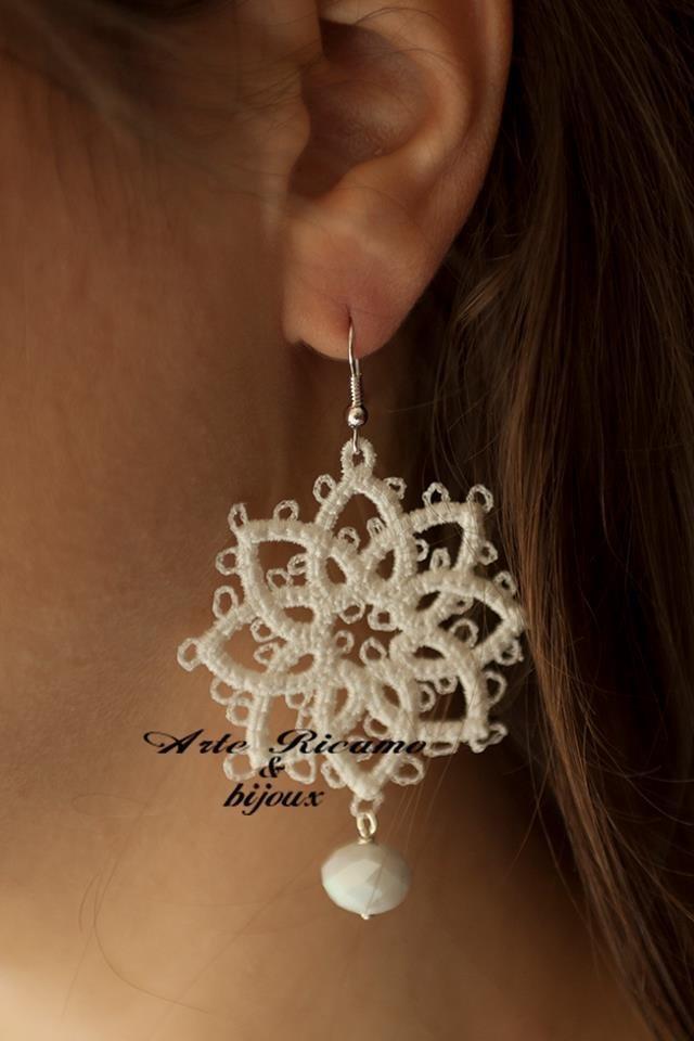 ArteRicamo&Bijoux Orecchini CHIACCHIERINO con pendenti