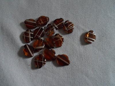 15 perle color ambra