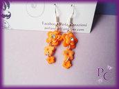 Orecchini pendenti Flowers - Arancio