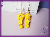 Orecchini pendenti Flowers - Giallo