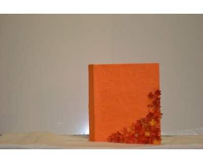 "Album fotografico artigianale orange - ""Cascate d'autunno"""