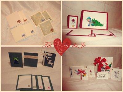 Bigliettini natalizi realizzati a mano