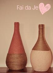 Fiaschi rosa decorati a mano