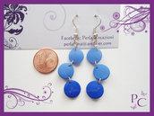 Orecchini pendenti Coriandoli - Blu