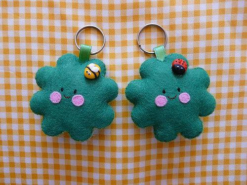 portachiavi quadrifoglio-cute clover keychains