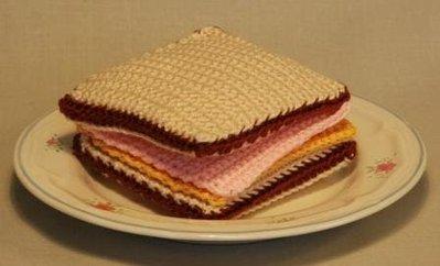 Amigurumi Sandwich Pattern-  Patrón Sandwich Jamón y Queso