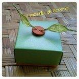 scatola origami portaconfetti