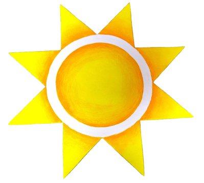 Lavagna magnetica Sole - fatta a mano