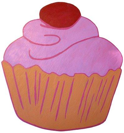 Lavagna magnetica Cupcake - fatta a mano