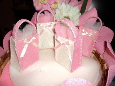 sacchetti x confetti, segnaposto fai da te artigianali festone rosa