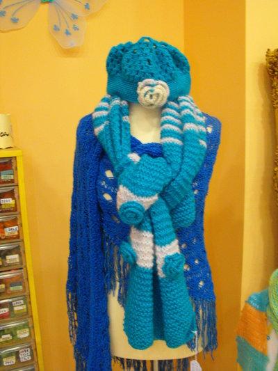 Sciarpa e cappellino 100% Handmade by Fantasie di lana e cotone - Ragusa