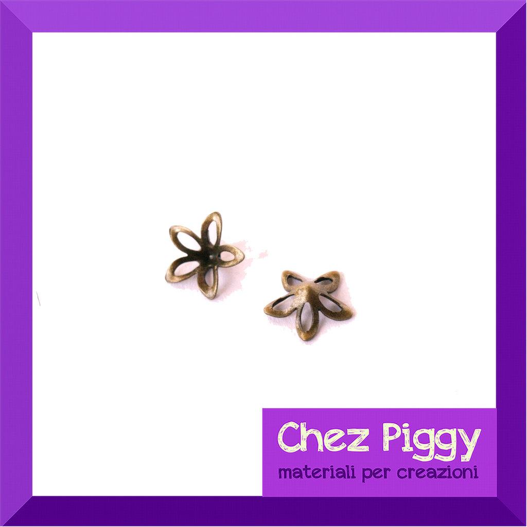 1 x decorazione fiorellino color bronzo