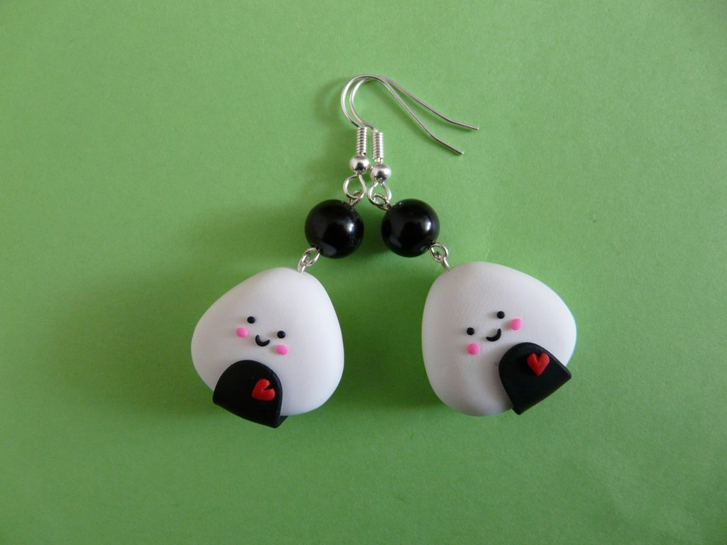 orecchini onigiri-onigiri earrings