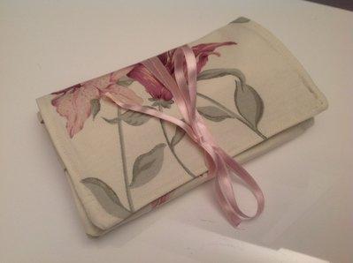 Portagioielli da viaggio in cotone a fiori