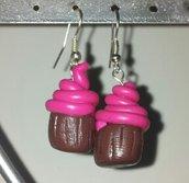 orecchini in fimo cupcake