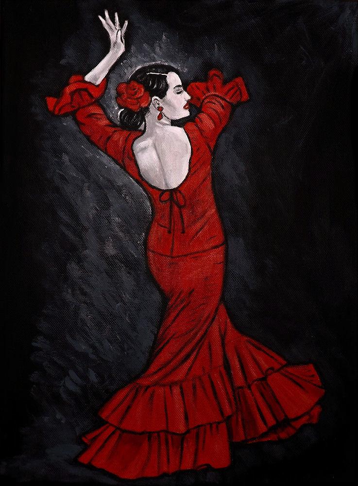 quadro ballerina di flamenco