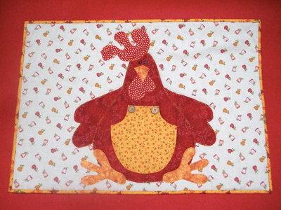 copri piano cottura  in stoffa con gallo