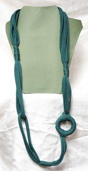 Collana lunga Verde scuro