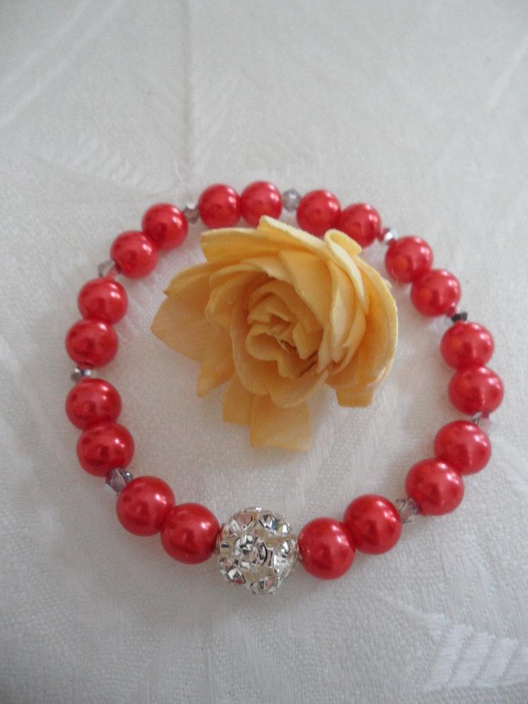 Bracciale Perle Rosse