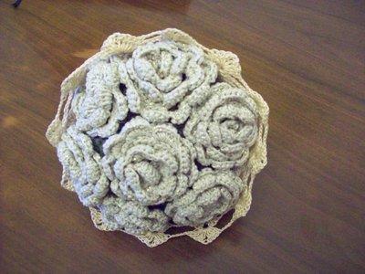Bouquet di fiori ad uncinetto