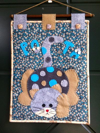 Pannello porta posta con gatto