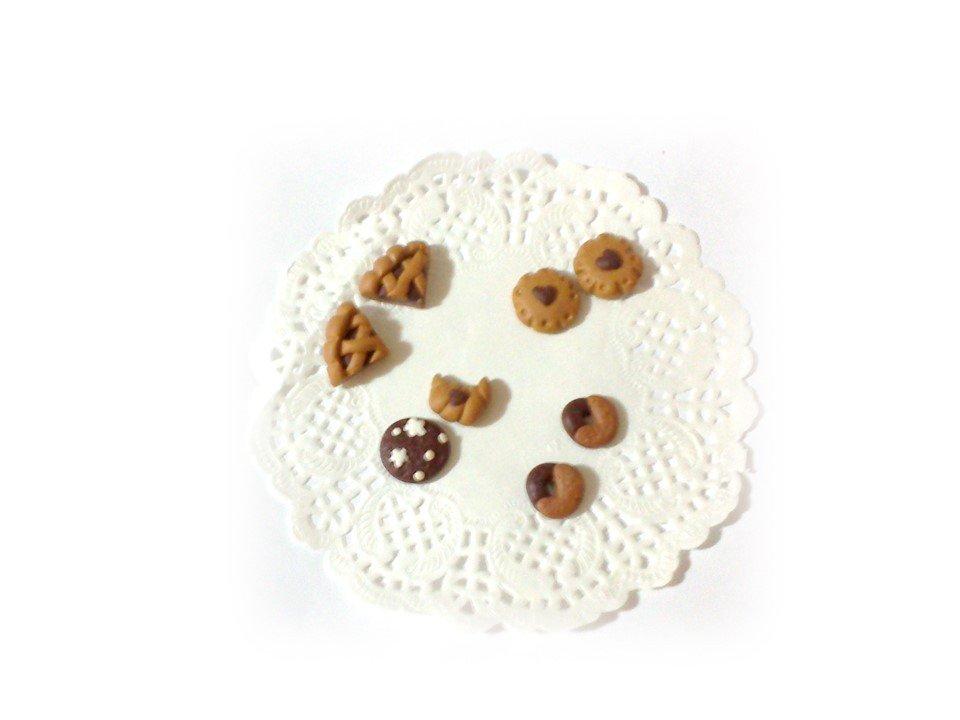 Decorazioni cabochon biscotti crostatine abbracci fimo scrapbooking