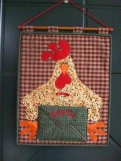 Pannello porta posta con gallo