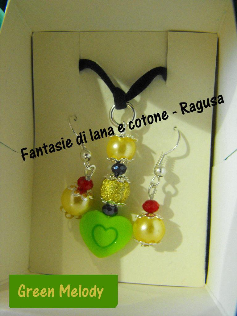 Parure Collana e orecchini. Idea regalo per San Valentino :)
