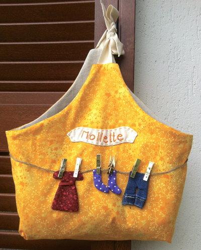 sacchetto porta mollette